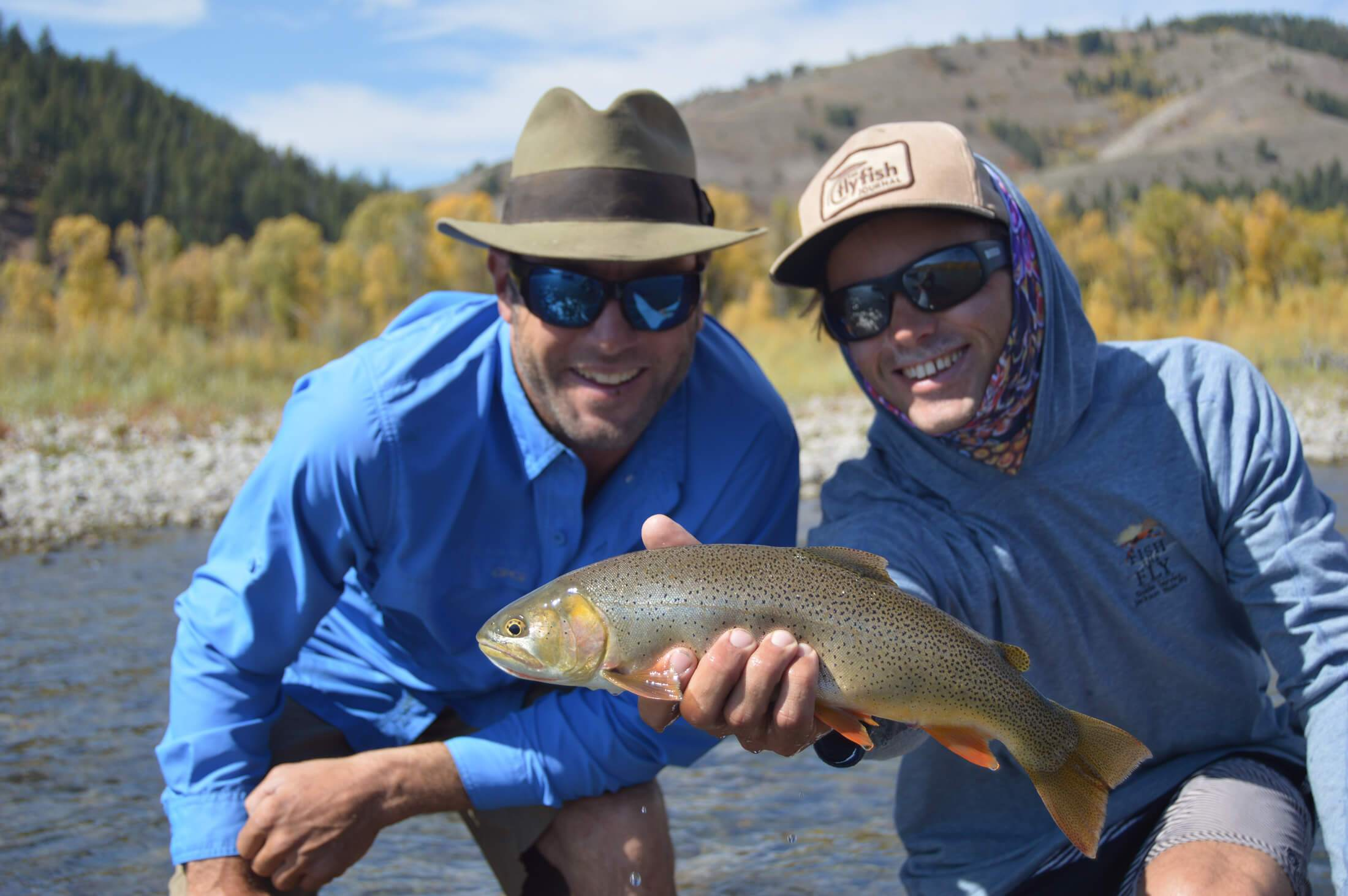 Cotthroat trout catch