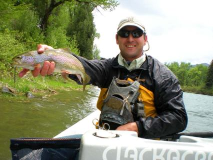 Nymphing and fishing on South Fork of the Snake River