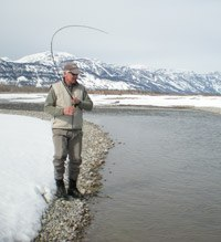 March fly fishing in Jackson Hole WY